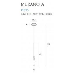 Pakabinamas šviestuvas MURANO A - 2 - 165,12€