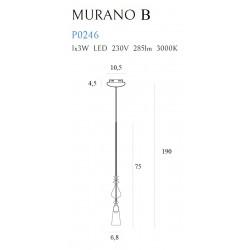 Pakabinamas šviestuvas MURANO B - 2 - 165,12€