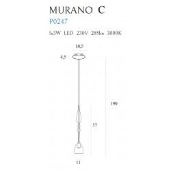 Pakabinamas šviestuvas MURANO C - 2 - 165,12€