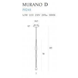 Pakabinamas šviestuvas MURANO D - 3 - 165,12€