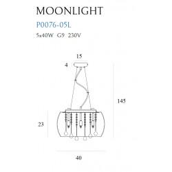 Pakabinamas šviestuvas MOONLIGHT - 3 - 177,20€