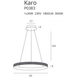Pakabinamas šviestuvas KARO 60 cm - 3 - 183,71€