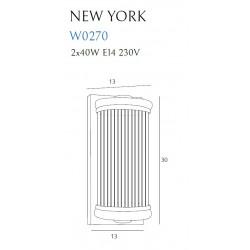Sieninis šviestuvas NEW YORK CHROM - 3 - 197,67€