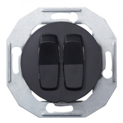 Schneider Electric Renova serijos dviejų grupių jungiklis juodas