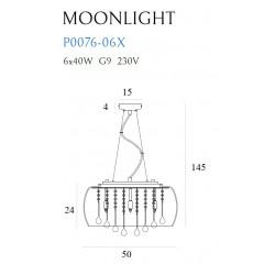 Pakabinamas šviestuvas MOONLIGHT didelis - 4 - 255,35€