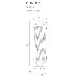 Sieninis šviestuvas MONTREAL žalvario - 4 - 273,24€