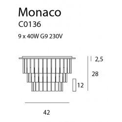 Plafonas MONACO Ø 42 cm - 2 - 302,09€