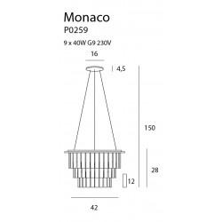 Pakabinamas šviestuvas MONACO Ø 42 cm - 3 - 328,83€