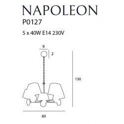 Pakabinamas šviestuvas NAPOLEON - 4 - 348,59€