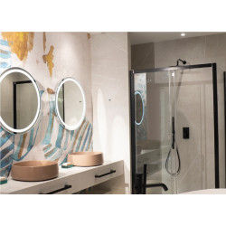 Apšviestas veidrodis Ø 80 cm, IP44, DIM - 5 - 388,13€
