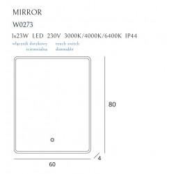 Apšviestas veidrodis 60x80cm - 5 - 388,13€