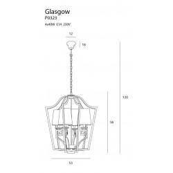 Pakabinamas šviestuvas GLASGOW mažas - 5 - 444,41€
