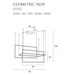Pakabinamas šviestuvas GEOMETRIC NEW baltas - 3 - 461,39€