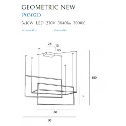 Pakabinamas šviestuvas GEOMETRIC NEW baltas DIM - 3 - 500,44€