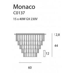 Plafonas MONACO Ø 60 cm - 3 - 576,96€