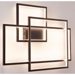 Sieninis šviestuvas LED GEOMETRIC juodas - 2 - 600,68€
