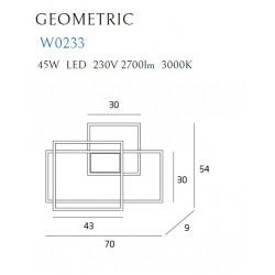 Sieninis šviestuvas LED GEOMETRIC juodas - 3 - 600,68€
