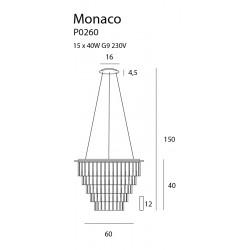 Pakabinamas šviestuvas MONACO Ø 60 cm - 4 - 600,68€