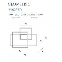 Sieninis šviestuvas LED GEOMETRIC juodas, DIM - 4 - 659,28€
