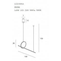 Pakabinamas šviestuvas LOZANNA 18W auksinė - 4 - 688,36€