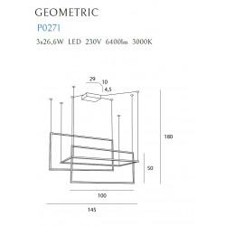 Pakabinamas šviestuvas GEOMETRIC juodas - 4 - 1111,13€