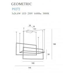 Pakabinamas šviestuvas GEOMETRIC baltas - 2 - 1111,13€