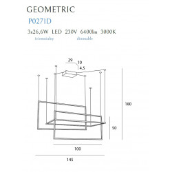 Pakabinamas šviestuvas GEOMETRIC juodas, DIM - 5 - 1159,97€