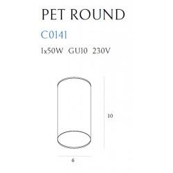 Lubinis šviestuvas PET ROUND NEW baltas - 3 - 15,11€