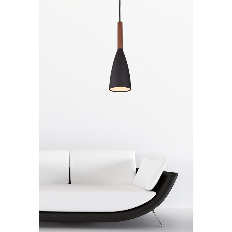 Pakabinamas šviestuvas SOFT 1 juodas - 1 - 69,30€