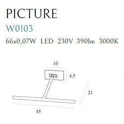 Sieninis šviestuvas PICTURE SATYNA didelis - 2 - 104,65€