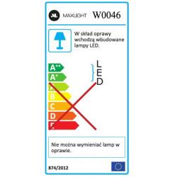 Sieninis šviestuvas RIDER juodas - 5 - 105,81€