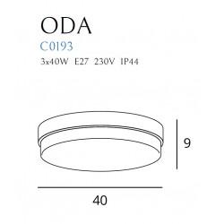 Lubinis šviestuvas ODA baltas - 3 - 111,62€