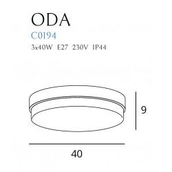 Lubinis šviestuvas ODA juodas - 2 - 111,62€