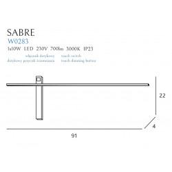 Sieninis šviestuvas SABRE 91 cm juodas - 5 - 111,62€