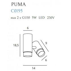 Lubinis šviestuvas PUMA 1 - 2 - 113,95€