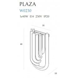 Sieninis šviestuvas PLAZA - 3 - 126,05€