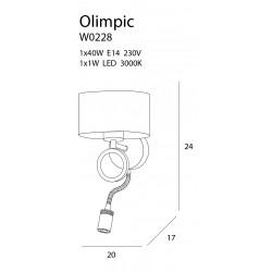 Sieninis šviestuvas OLIMPIC LED - 2 - 135,11€