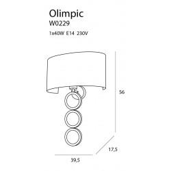 Sieninis šviestuvas OLIMPIC - 2 - 153,02€