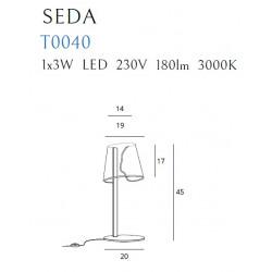 Stalinė lempa SEDA - 4 - 161,62€