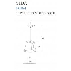 Pakabinamas šviestuvas SEDA - 3 - 174,18€