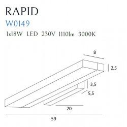 Sieninis šviestuvas RAPID - 5 - 175,81€