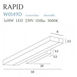 Sieninis šviestuvas  RAPID, DIM - 5 - 195,34€