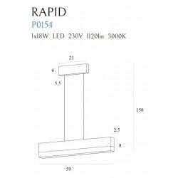 Pakabinamas šviestuvas RAPID - 4 - 208,60€