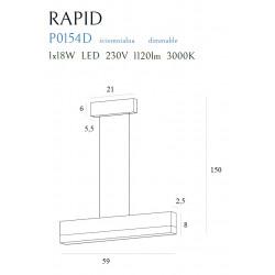 Pakabinamas šviestuvas RAPID, DIM - 4 - 220,22€