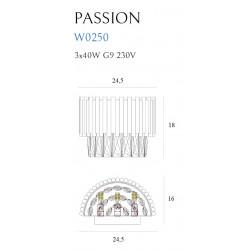 Sieninis šviestuvas  PASSION - 2 - 227,66€