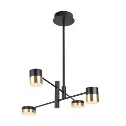 Pakabinamas šviestuvas PUMA LED 4x 7W BK/GD - 1 - 230,23€