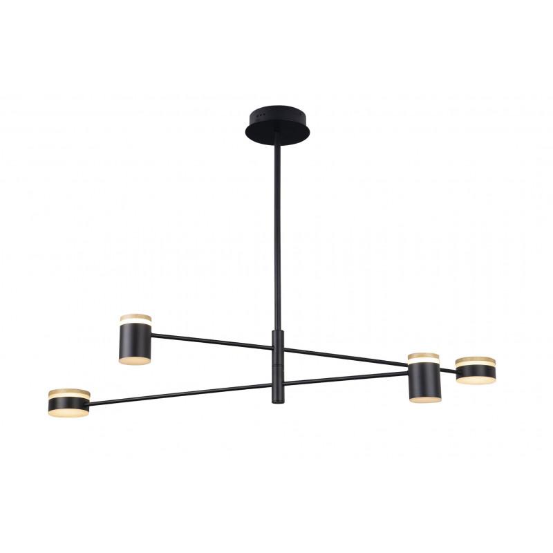 Pakabinamas šviestuvas PUMA LED 4x 7W BK/GD/WD - 1 - 230,23€