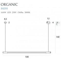 Pakabinamas šviestuvas ORGANIC HORIZON 100CM CHROM - 2 - 263,71€