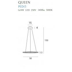 Pakabinamas šviestuvas QUEEN I COPPER - 2 - 278,83€
