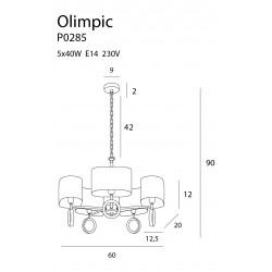 Pakabinamas šviestuvas OLIMPIC - 4 - 330,22€